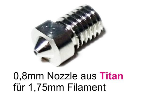 TITAN Nozzle Düse 0,8mm Durchmesser für 1,75mm Filament