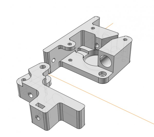 magnetic FLEXAR extruder printed parts complete files