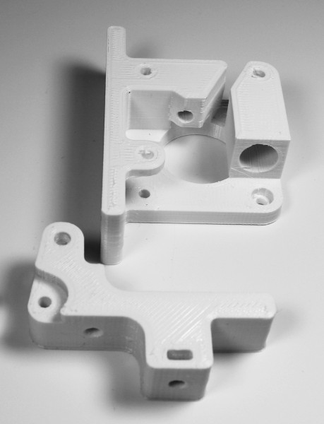 Bernis Magnetic FLEXAR Extruder PURE WHITE printed parts